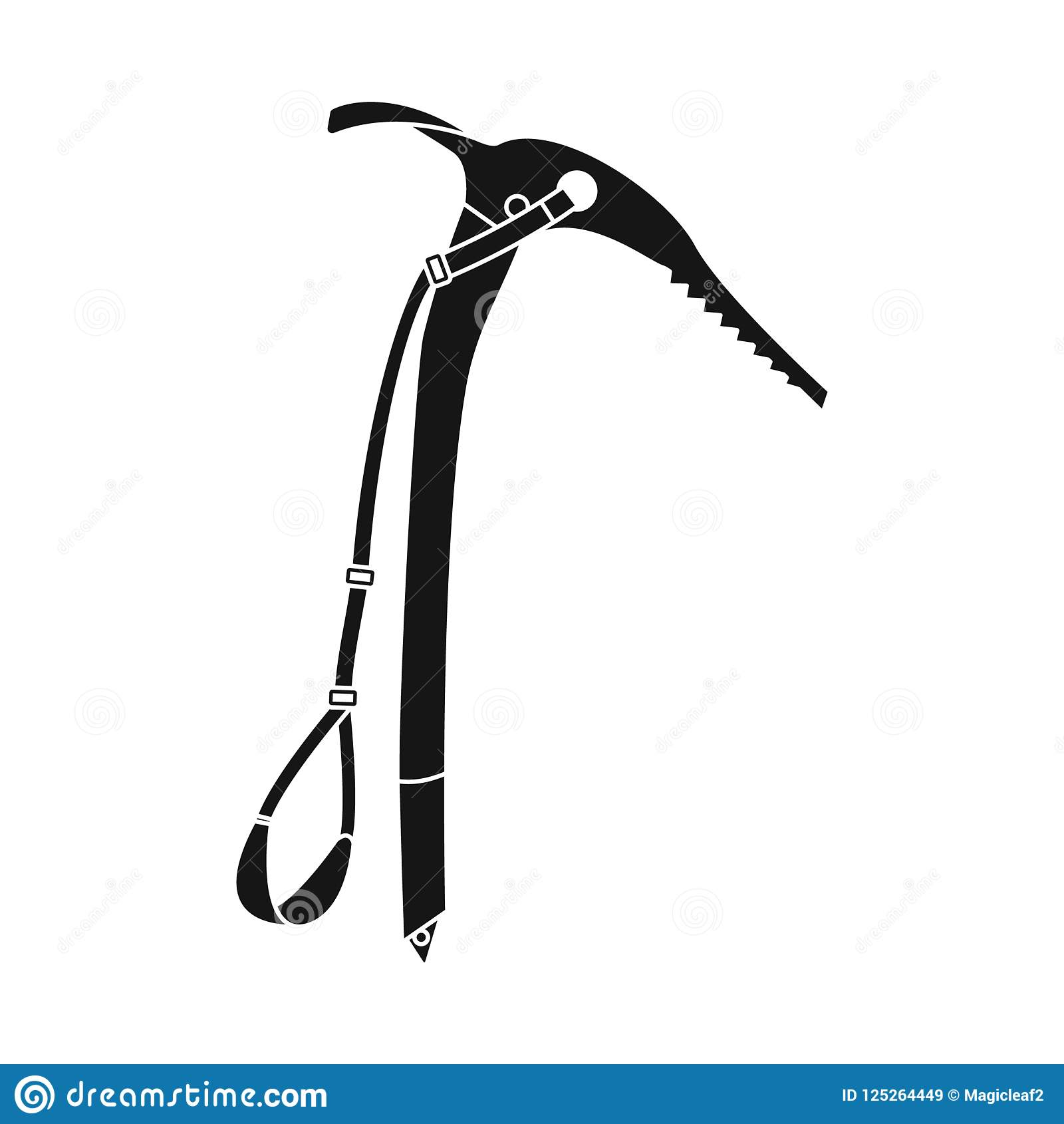 Vector Illustration Of Alpinism And Peak Sign Collection Of