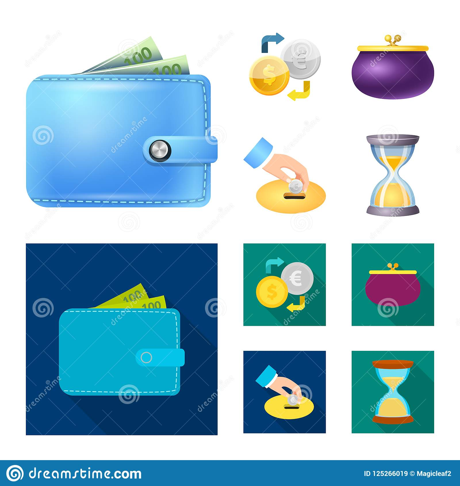 Design On Stock Bank.Isolated Object Of Bank And Money Sign Collection Of Bank And