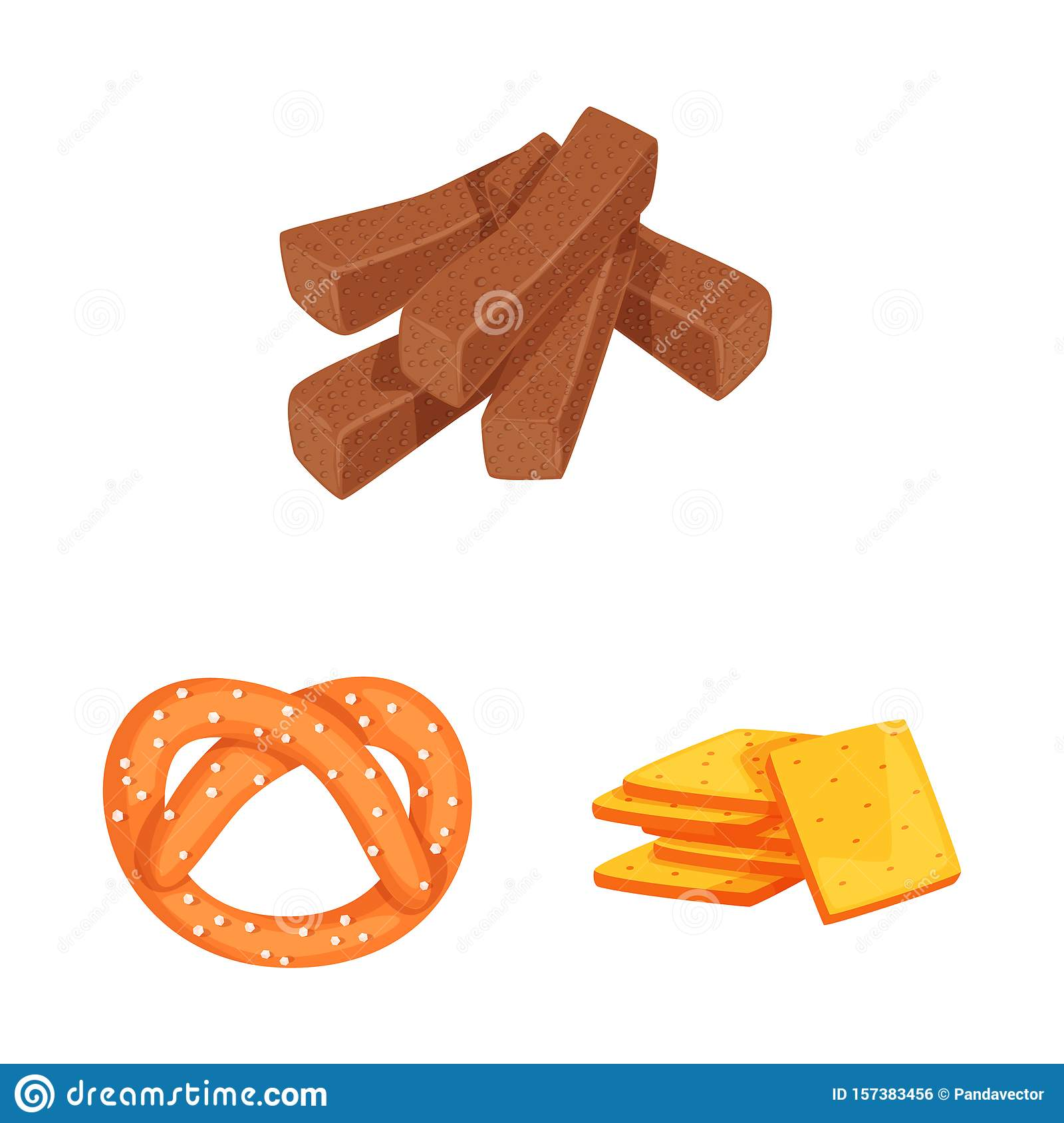 Vector illustration of food and crunchy icon. Set of food and flavor stock vector illustration.