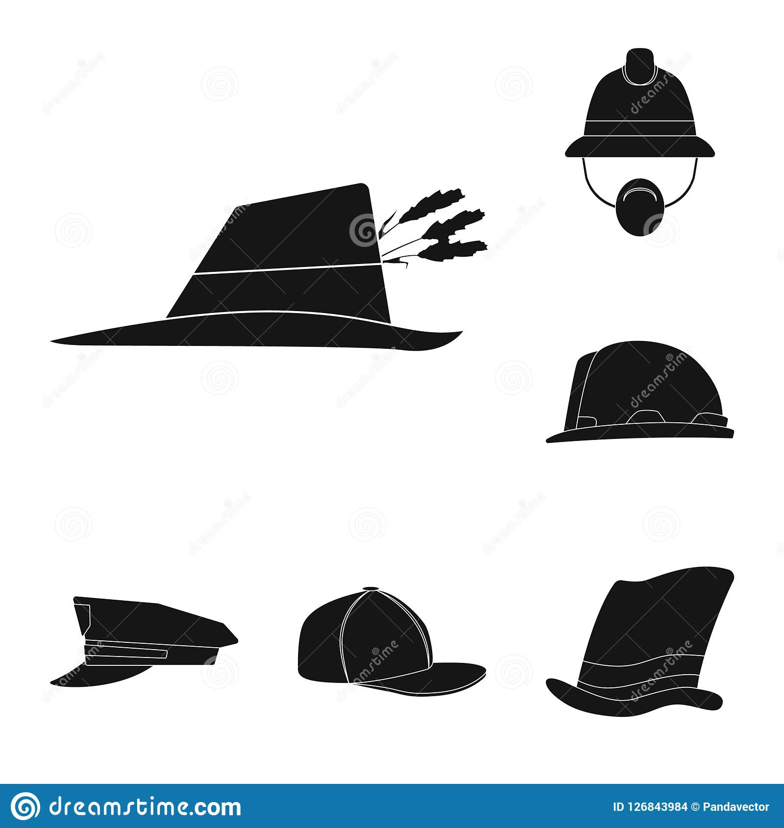 9d7103d5d67 Isolated object of headgear and cap symbol. Collection of headgear and  accessory vector icon for stock. More similar stock illustrations