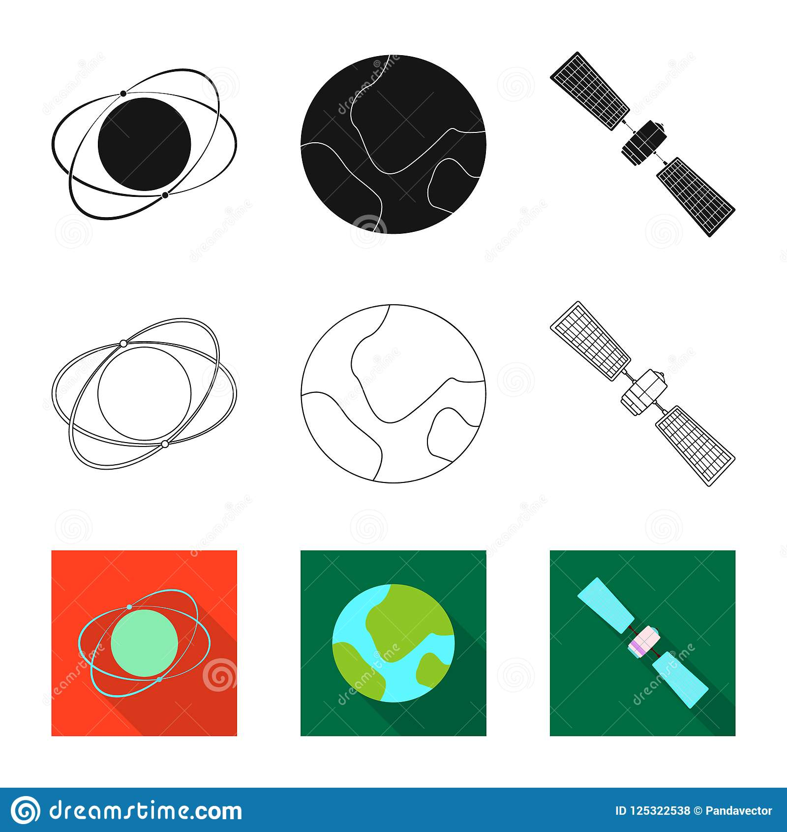 Isolated Object Of Mars And Space Symbol Collection Of Mars And