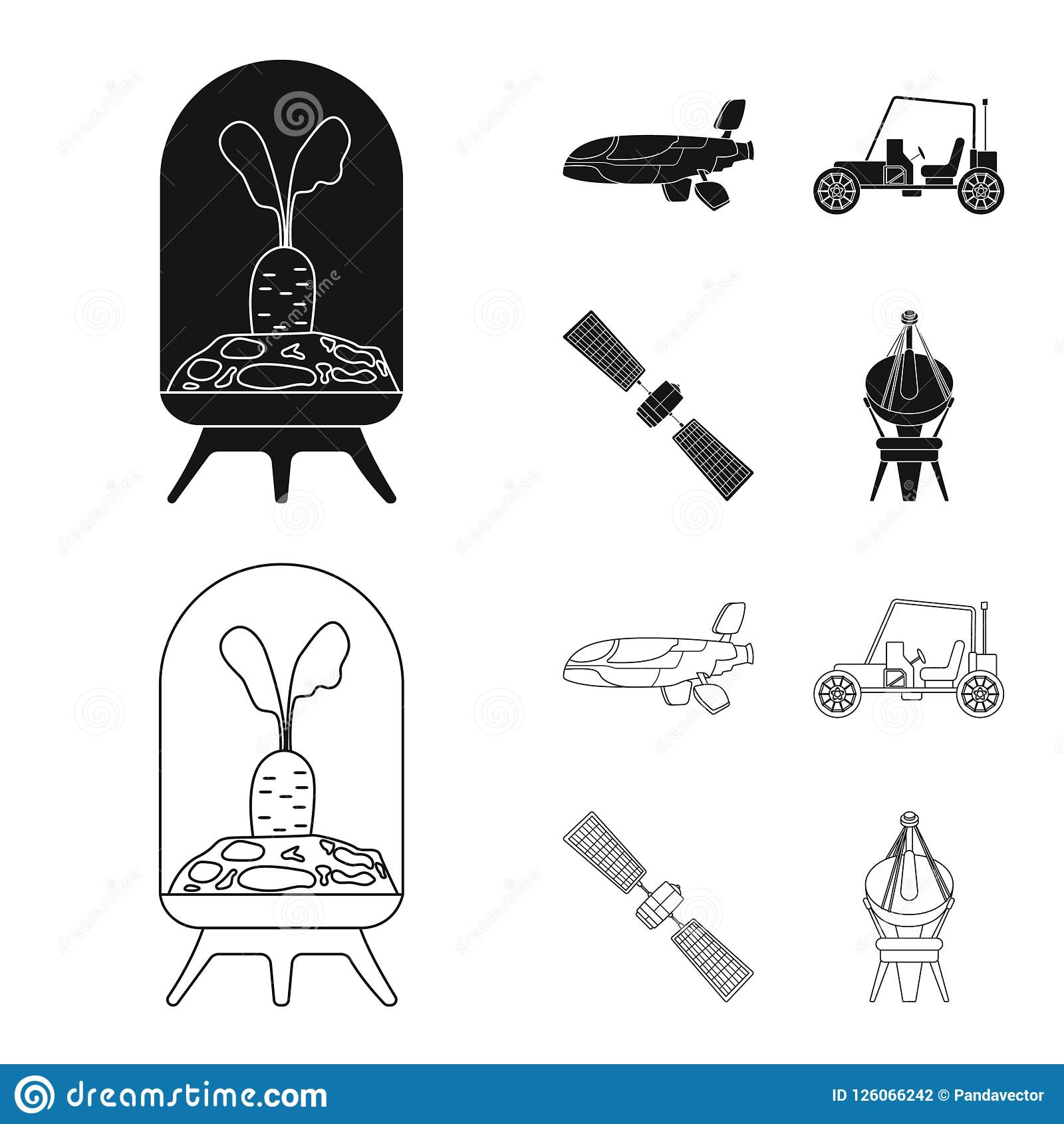 Isolated Object Of Mars And Space Symbol Set Of Mars And Planet