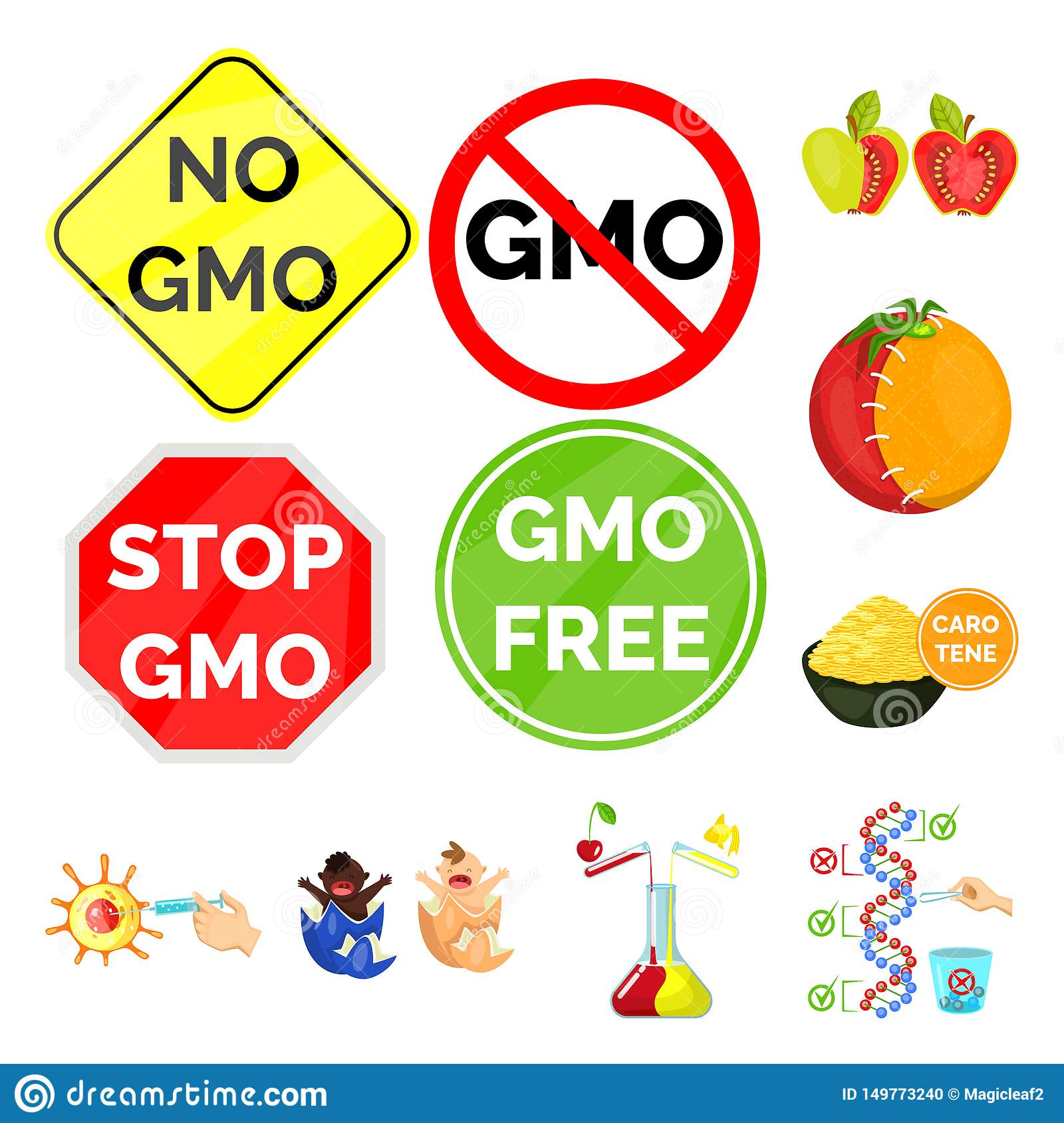 Isolated object of modified and genetically icon. Collection of modified and science vector icon for stock.