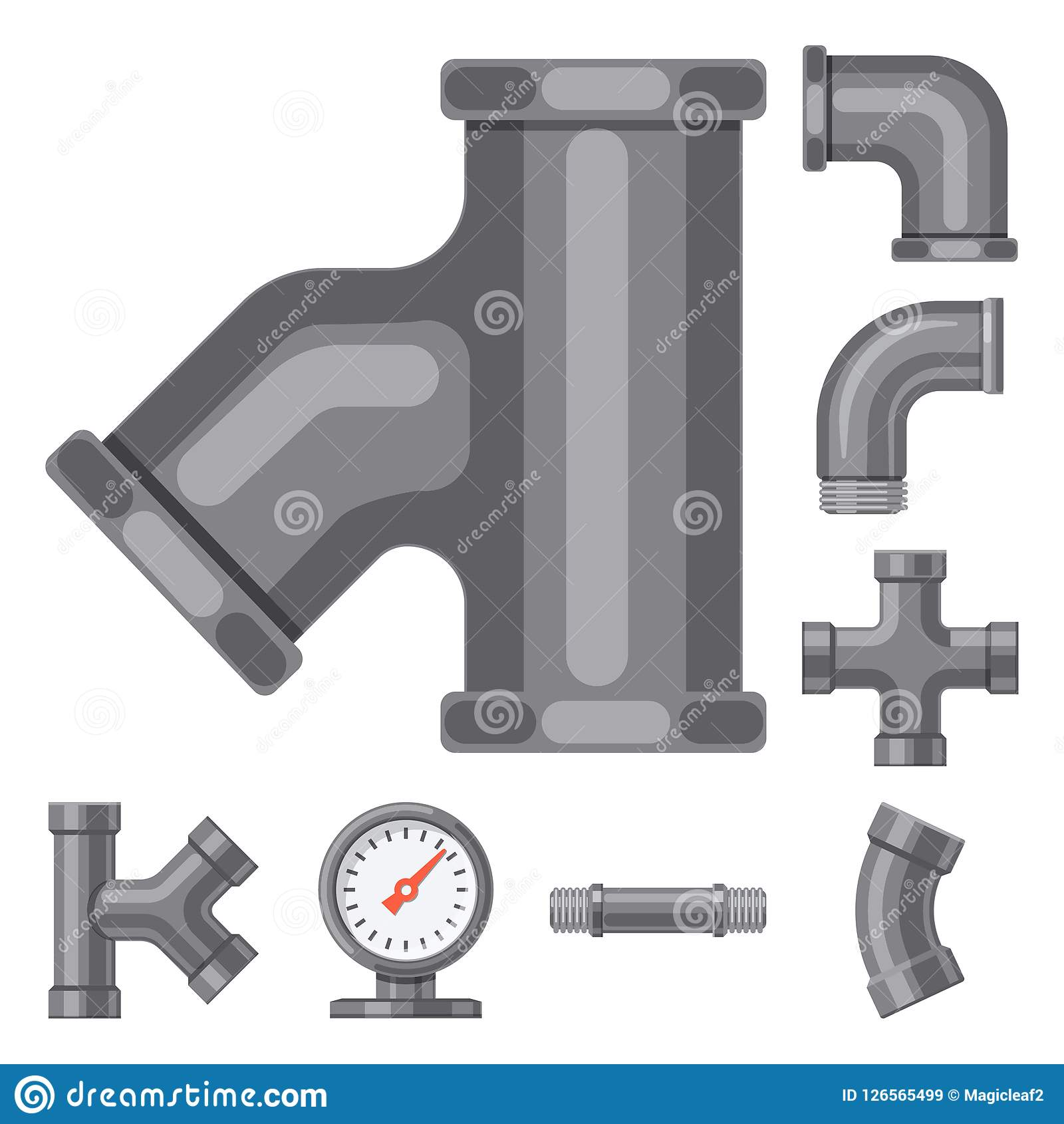 Vector Illustration Of Pipe And Tube Icon Collection Of Pipe And