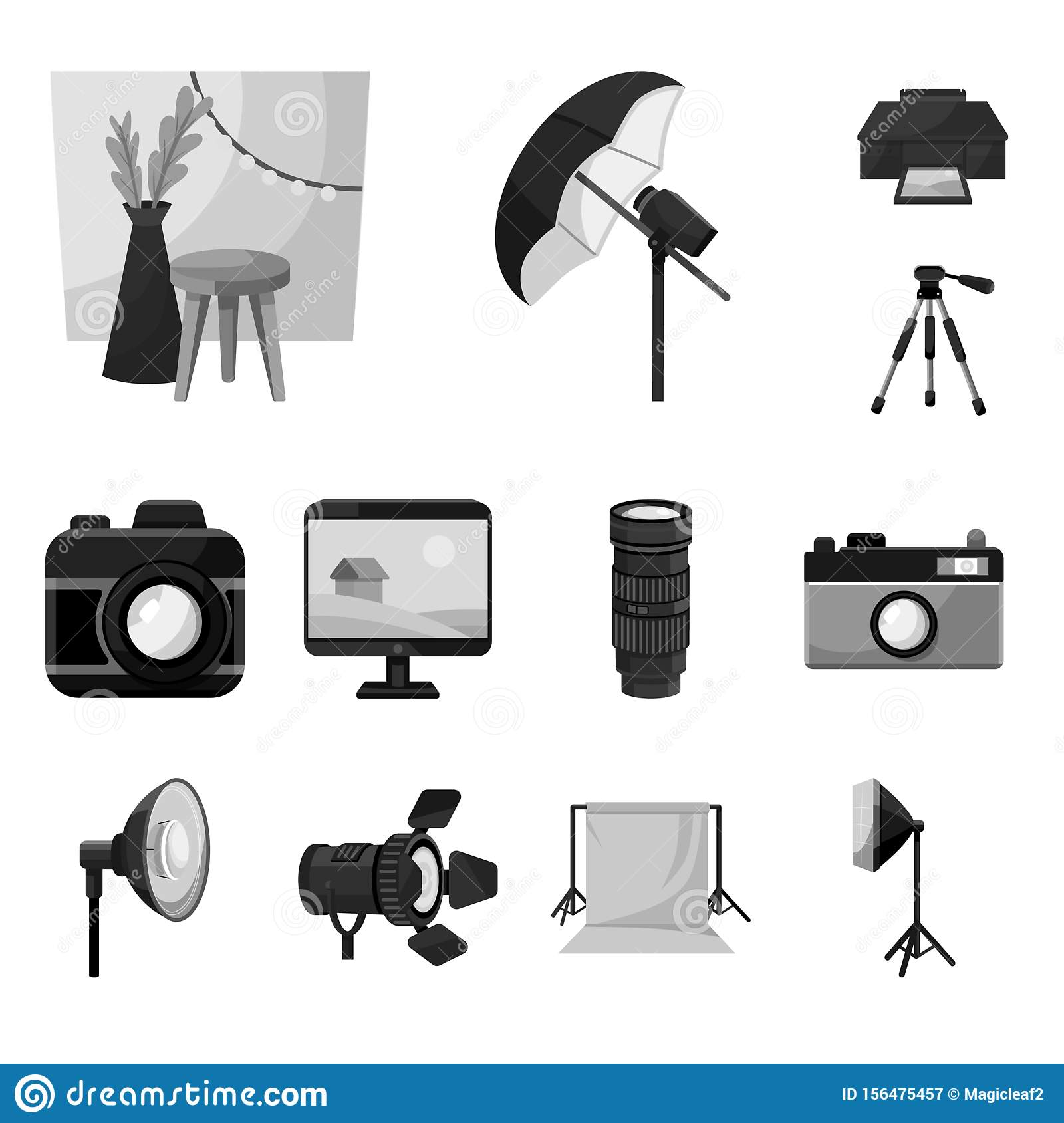 Isolated Object Of Professional And Accessories Icon. Set ...