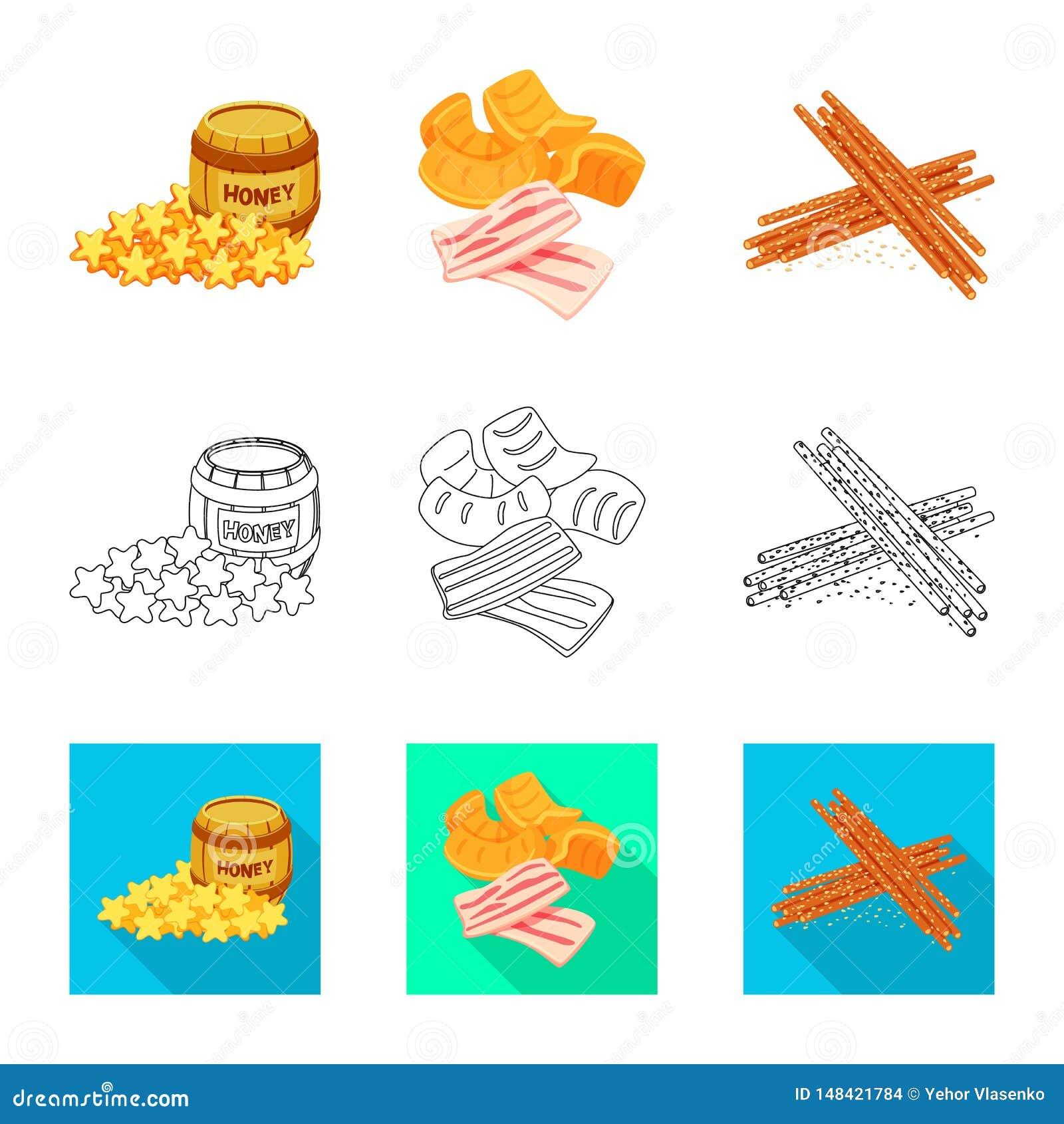 Vector illustration of taste and seasonin logo. Set of taste and organic vector icon for stock.