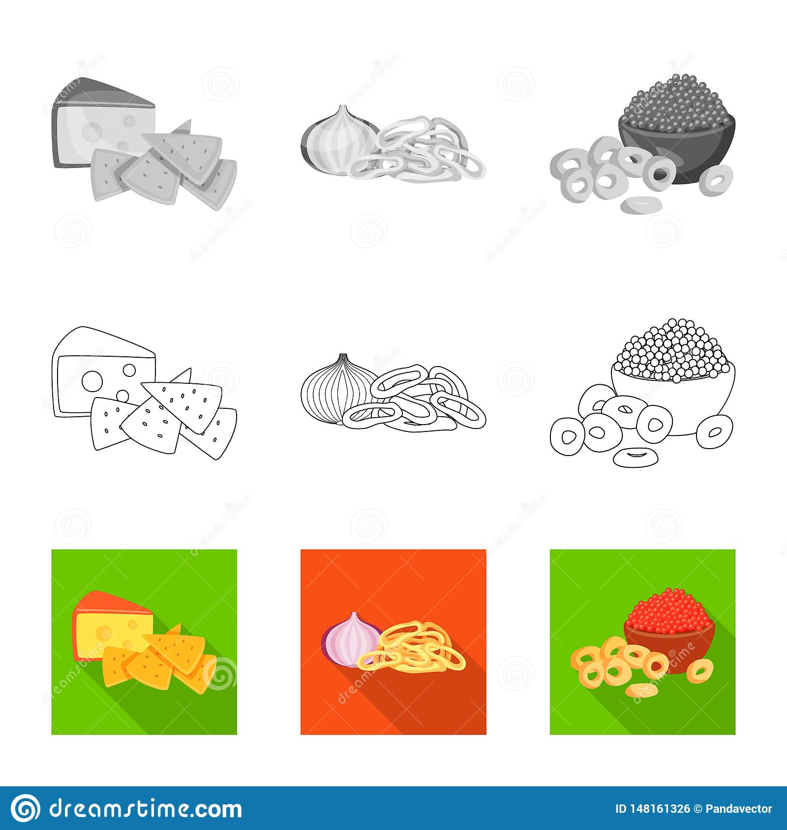Isolated object of taste and seasonin icon. Collection of taste and organic vector icon for stock.