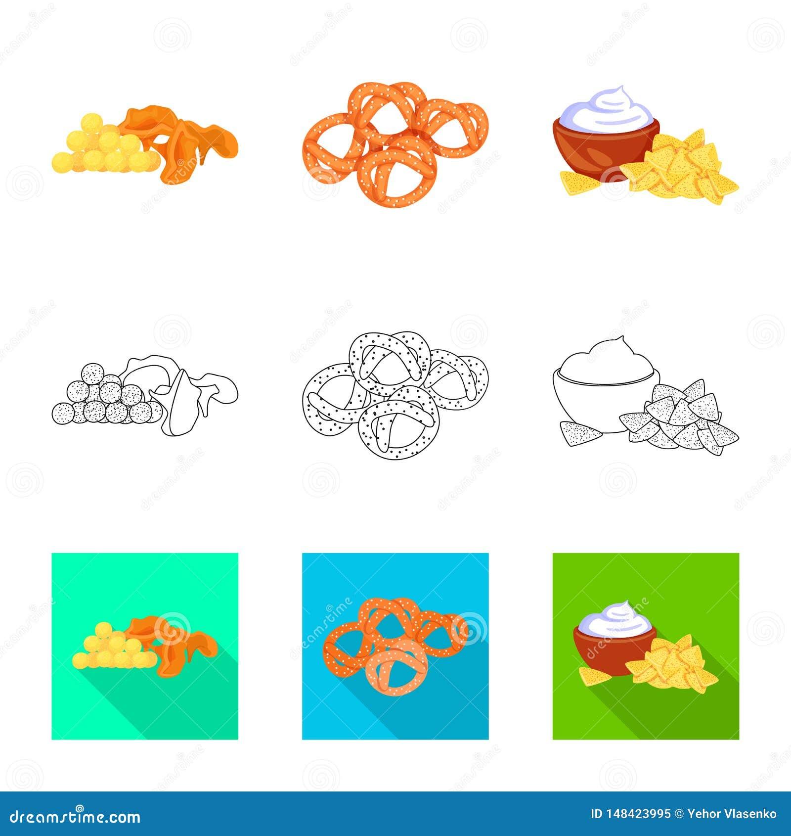 Vector illustration of taste and seasonin sign. Collection of taste and organic vector icon for stock.