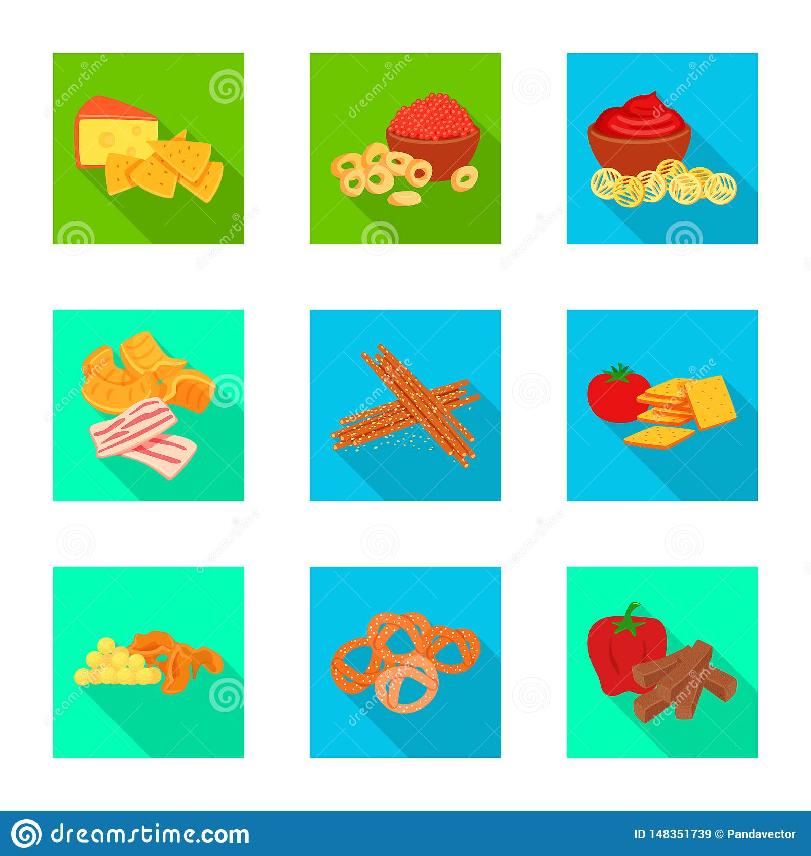 Isolated object of taste and seasonin symbol. Collection of taste and organic vector icon for stock.