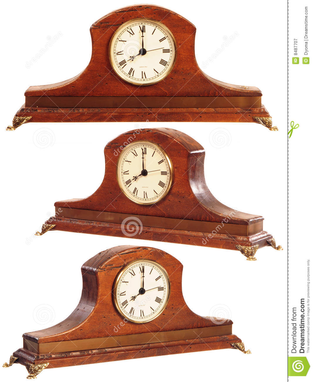Isolated Old Fashioned Clock Royalty Free Stock