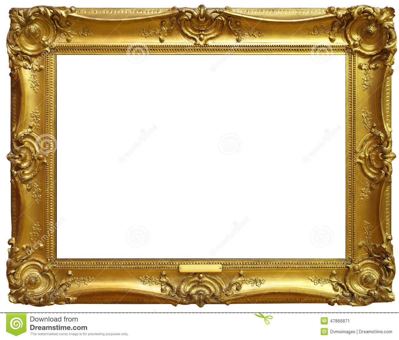 Isolated Old Gold Frame Stock Photo Image 47866871