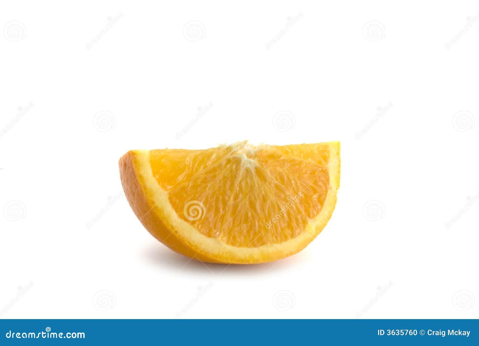 Isolated orange segment