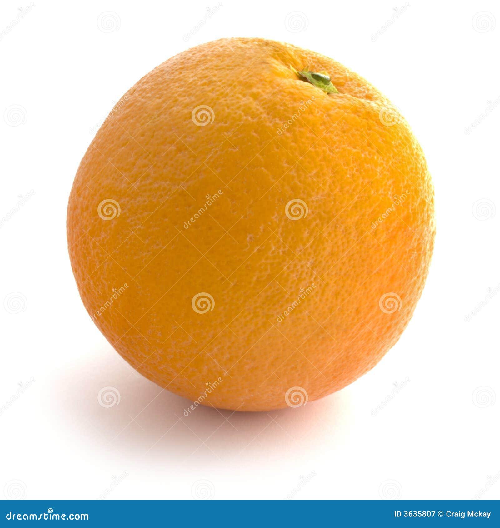 Isolated orange whole