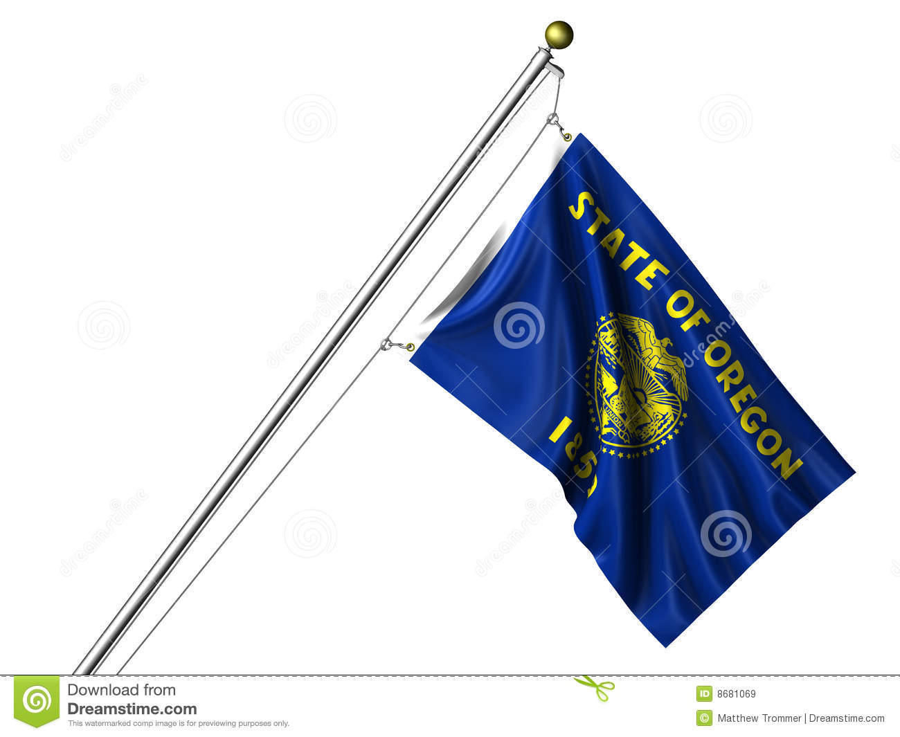 isolated oregon flag royalty free stock images image 8681069