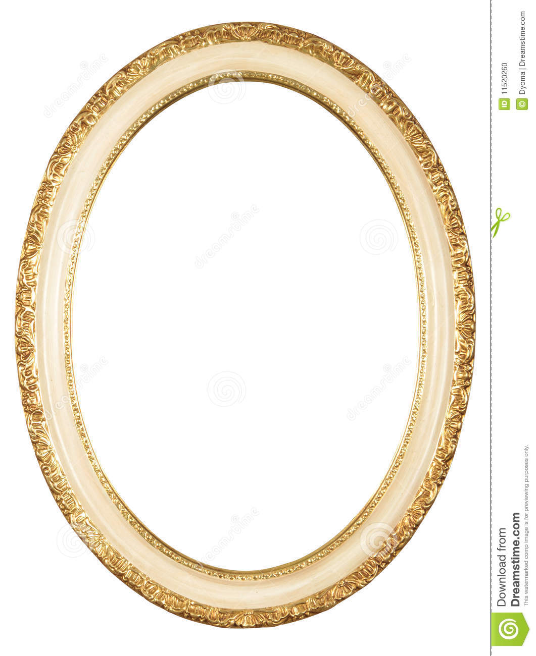 Vintage Style Paintings Isolated Oval Frame St...