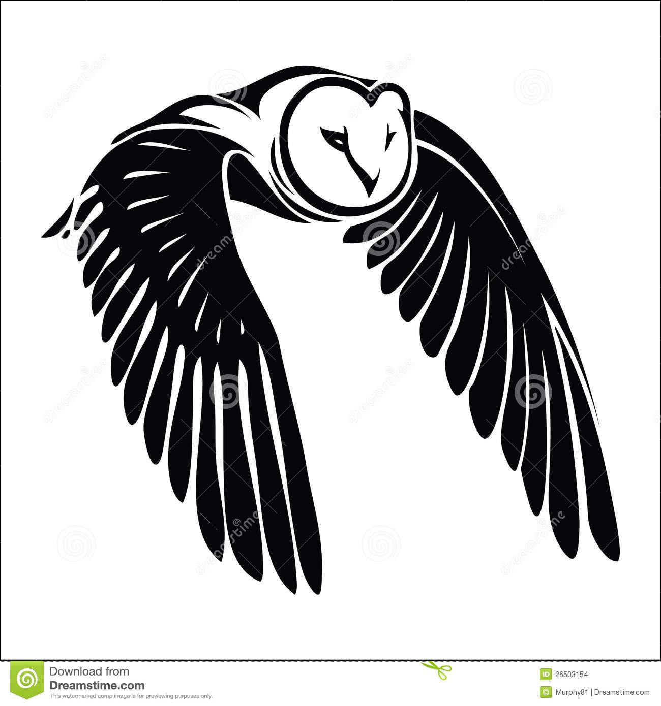 Isolated owl in flight stock images image 26503154 for Owl beak drawing