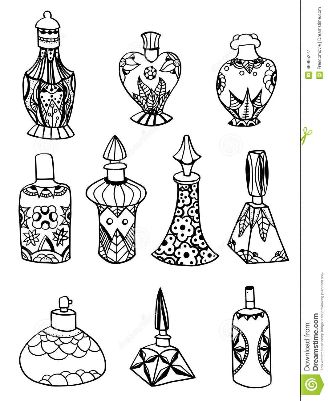 Isolated perfume bottles stock vector  Illustration of design - 69965227