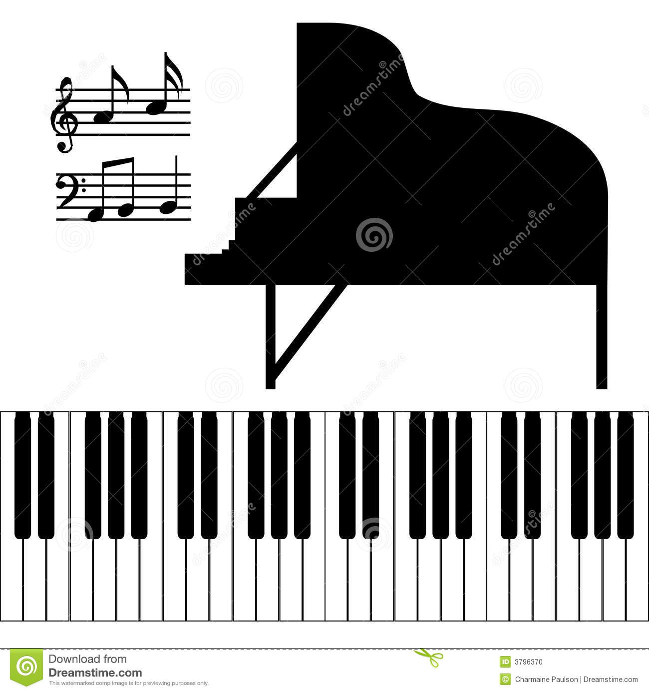 Isolated Piano Vector stock vector. Illustration of artistic - 3796370