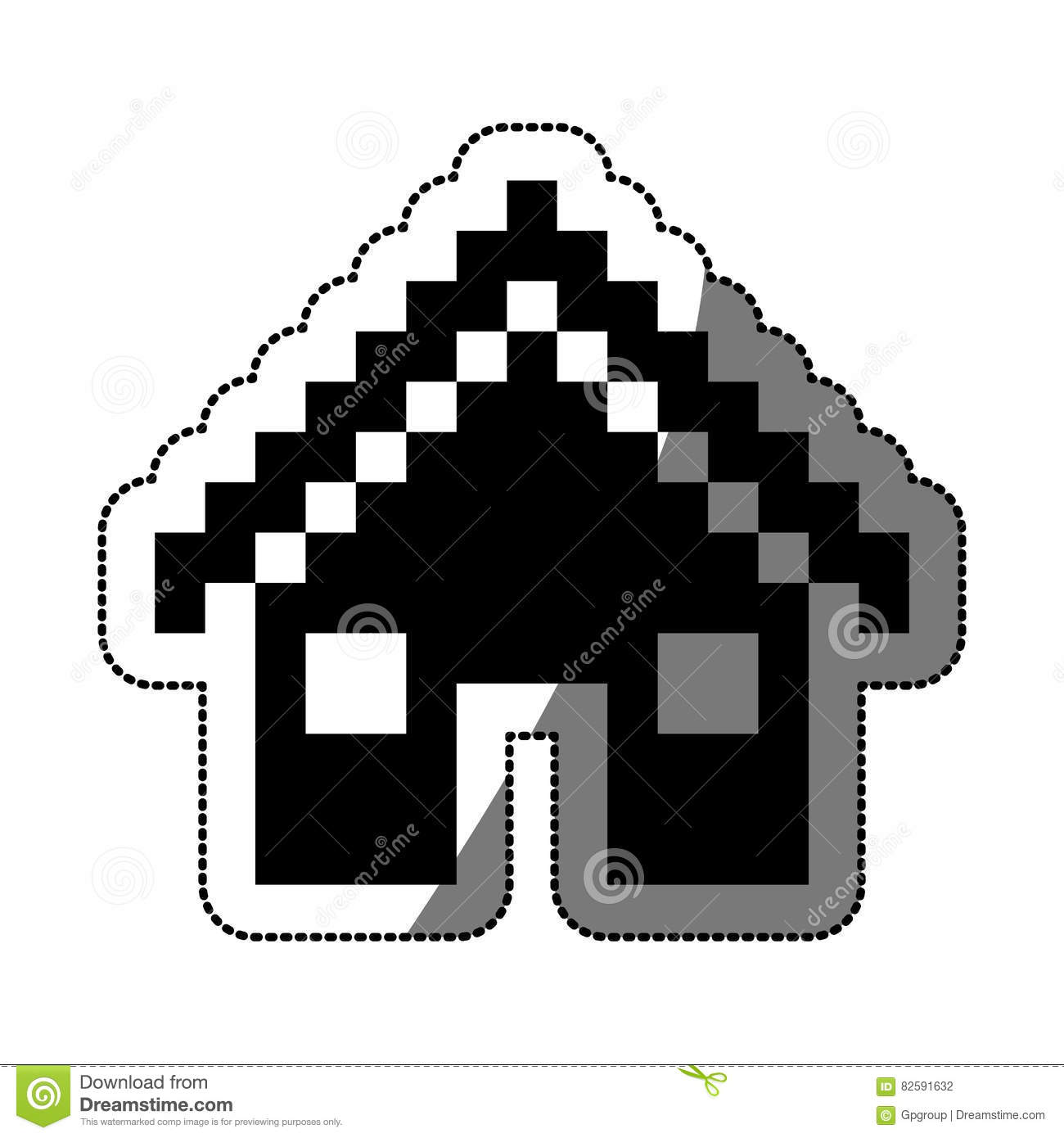 Isolated Pixel House Design Stock Vector Illustration Of
