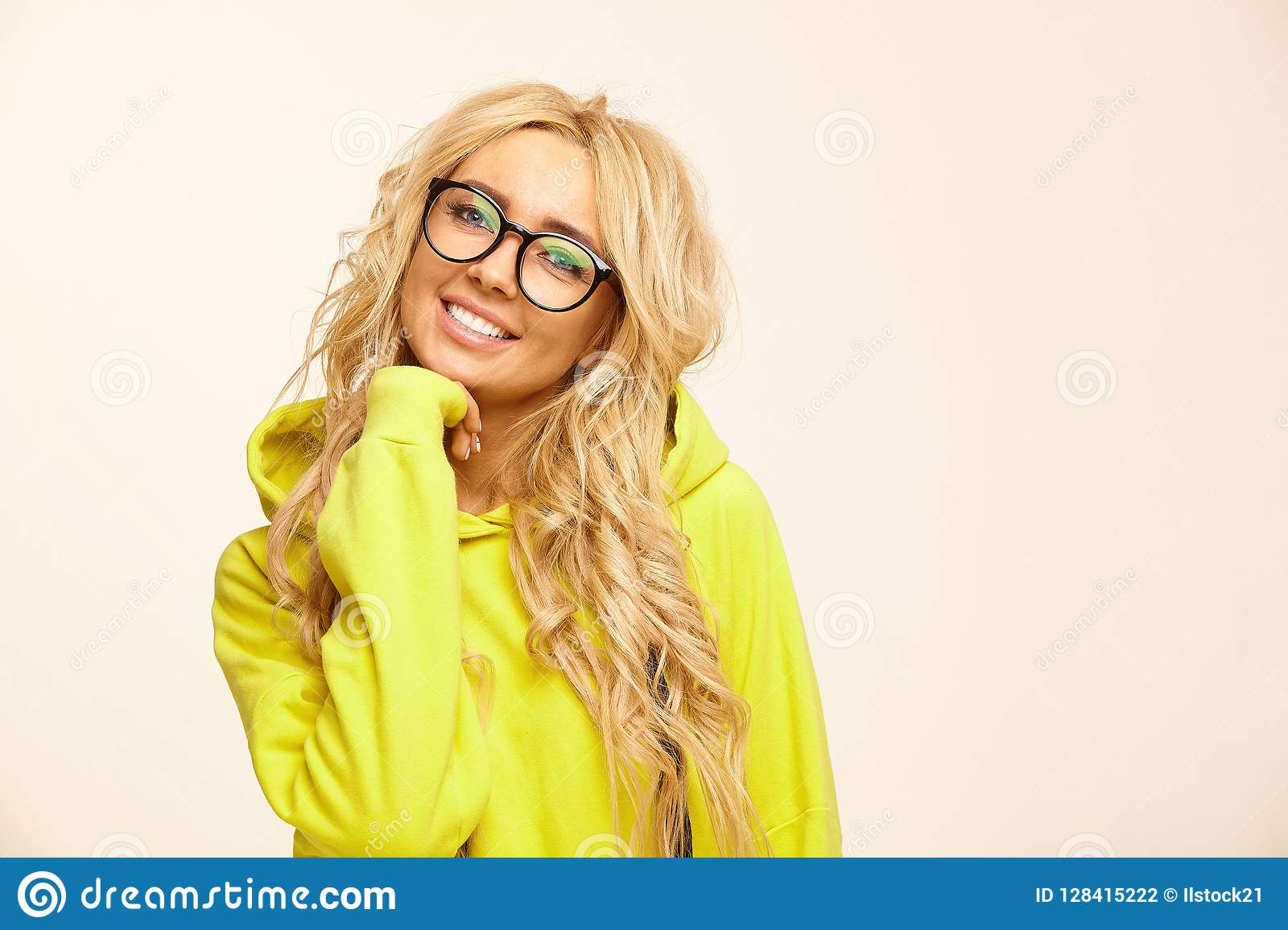 545b2656446 Isolated Portrait Of Happy Caucasian Women With Blonde Hair