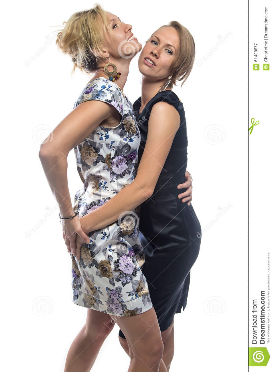 Download Isolated Portrait Of Standing Sisters On White Stock Image - Image of isolated, lesbians: 61408677
