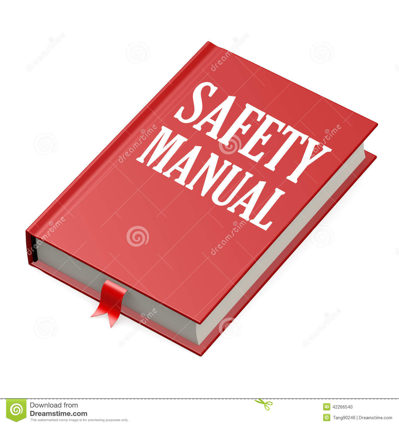 isolated red book with safety manual stock illustration book clip art free download book clipart transparent