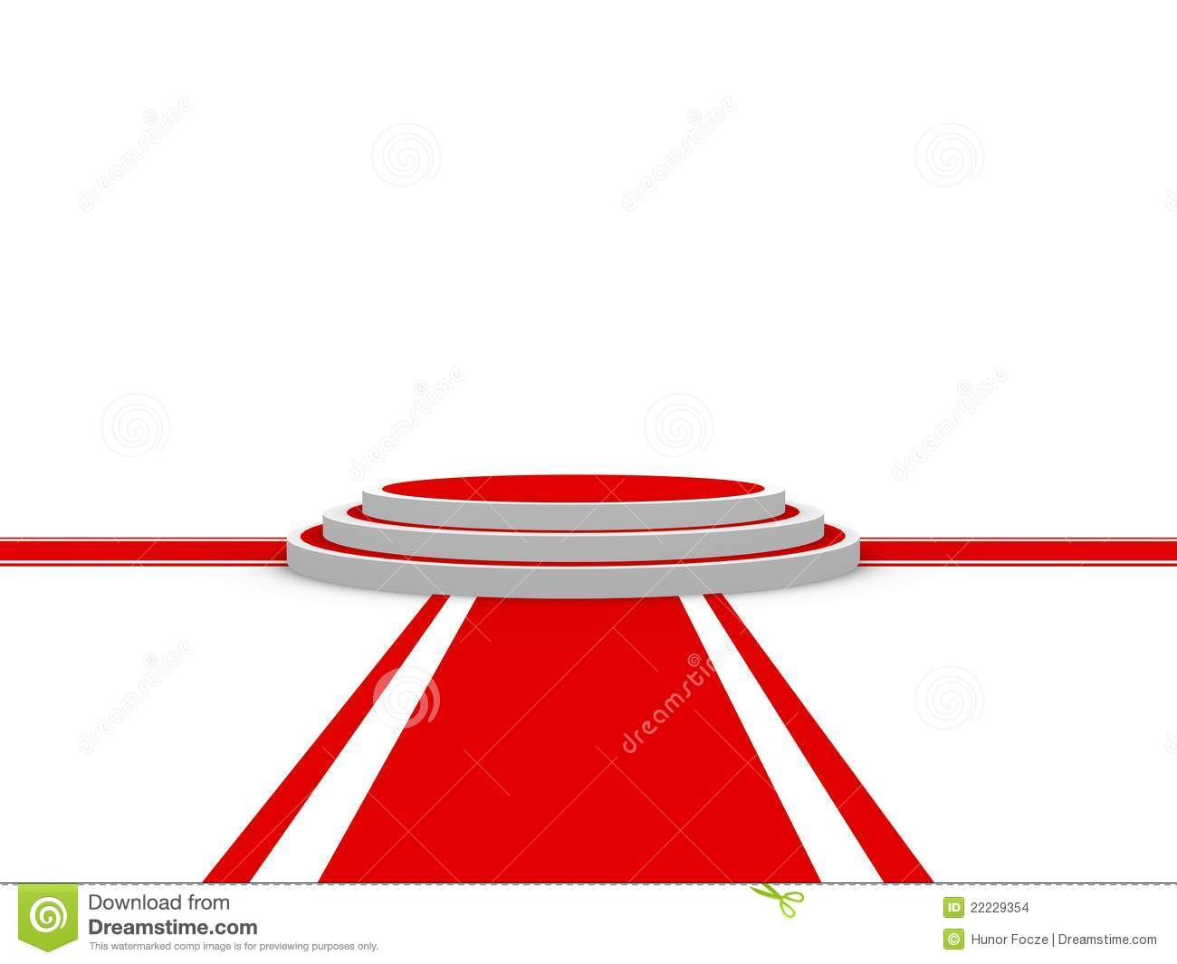 isolated red carpet with podium stock illustration illustration of
