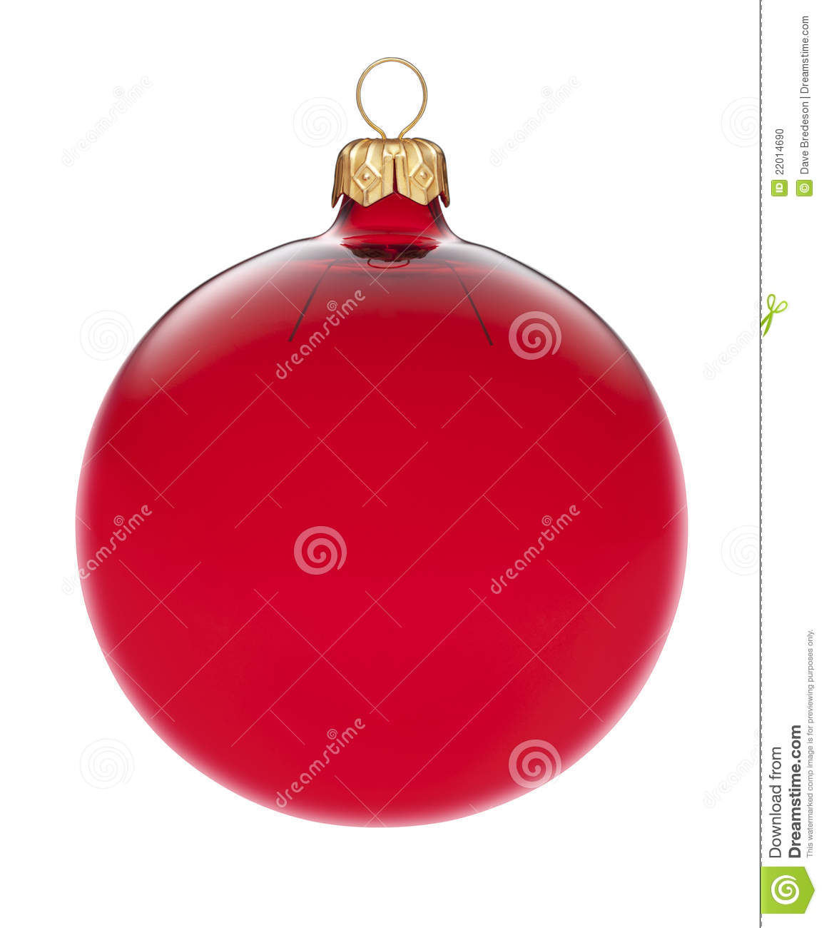 Isolated Red Christmas Ornament
