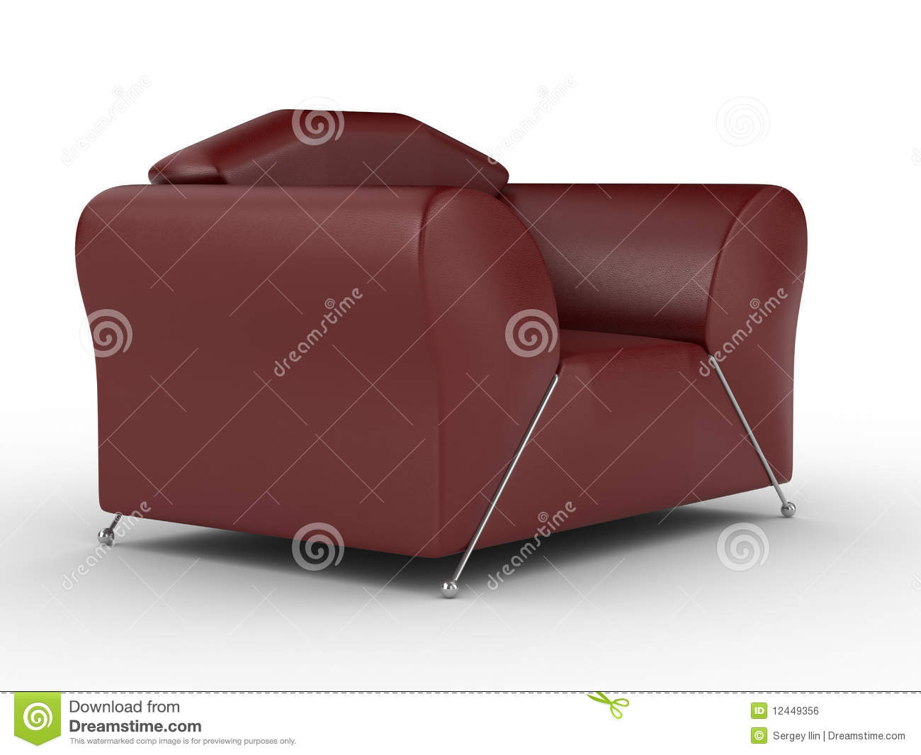 Red Armchair With Leg Rest Royalty Free Stock Photography