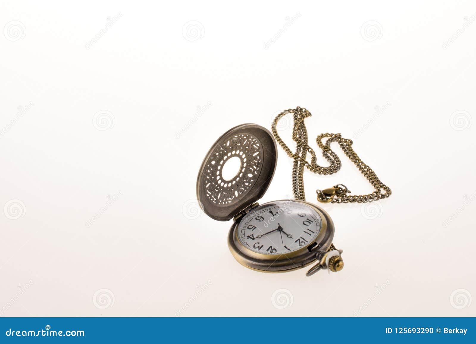 Isolated retro styled pocket watch