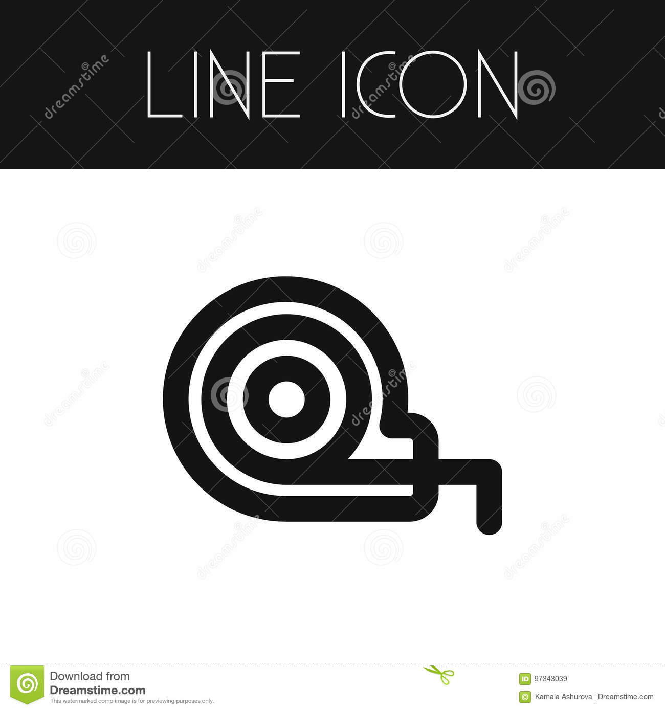 Isolated Roll Meter Outline. Measuring Tape Vector Element Can Be ...