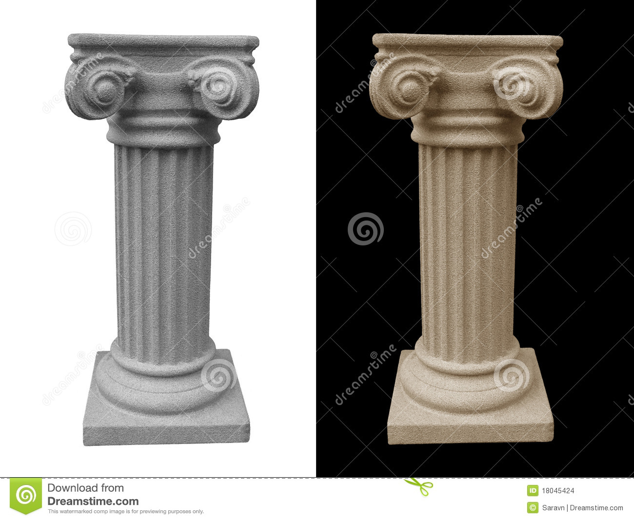 Isolated Roman Pedestal Stock Images Image 18045424