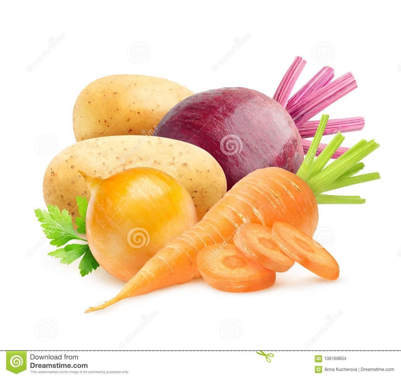 Isolated root vegetables stock photo. Image of organic ...