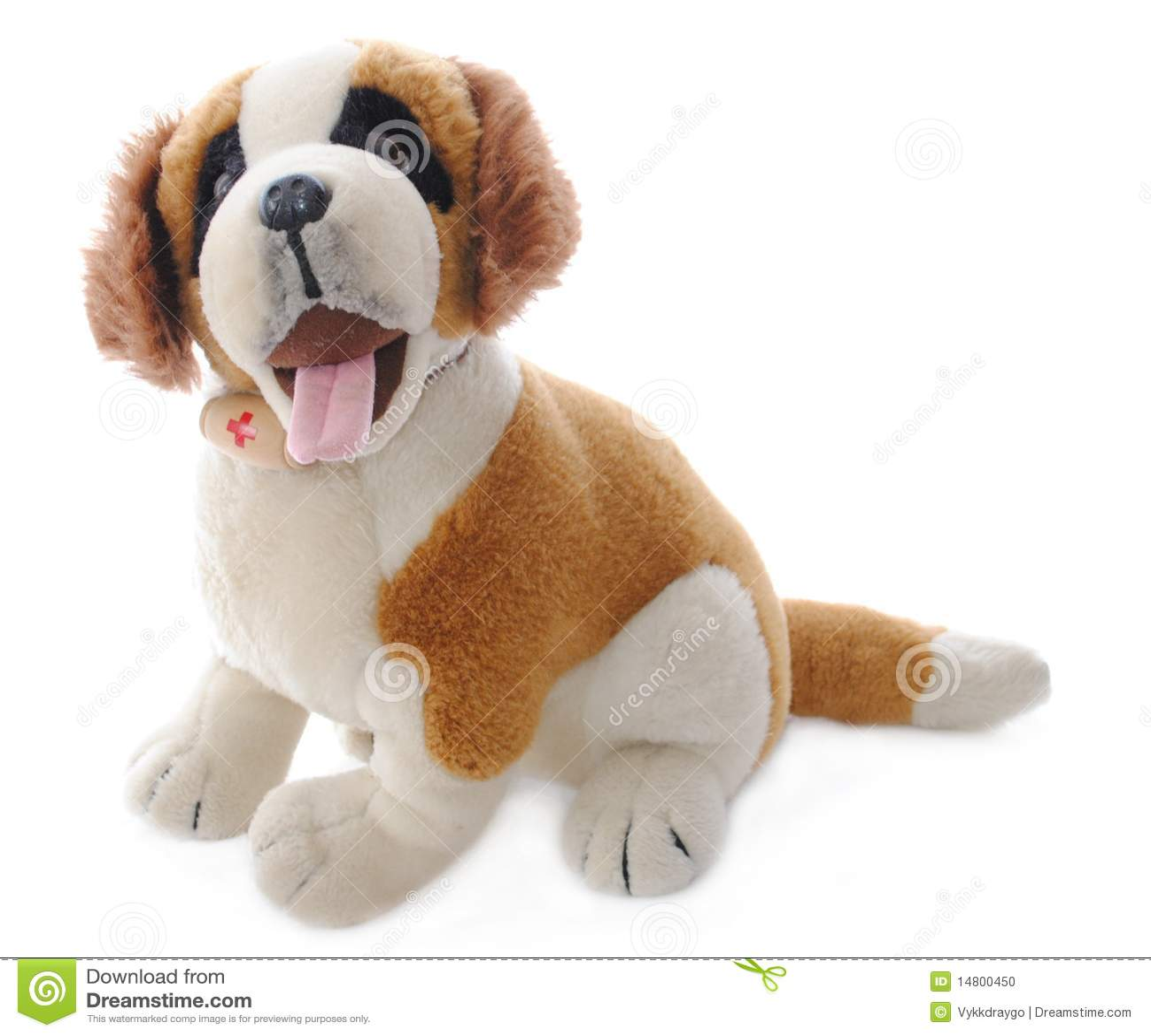 Isolated Saint Bernard Medic Stuffed Animal Stock Photo Image Of