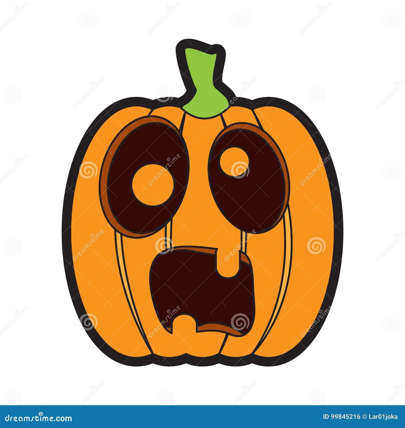 Scared Jack O Lantern Stock Illustrations – 167 Scared ...