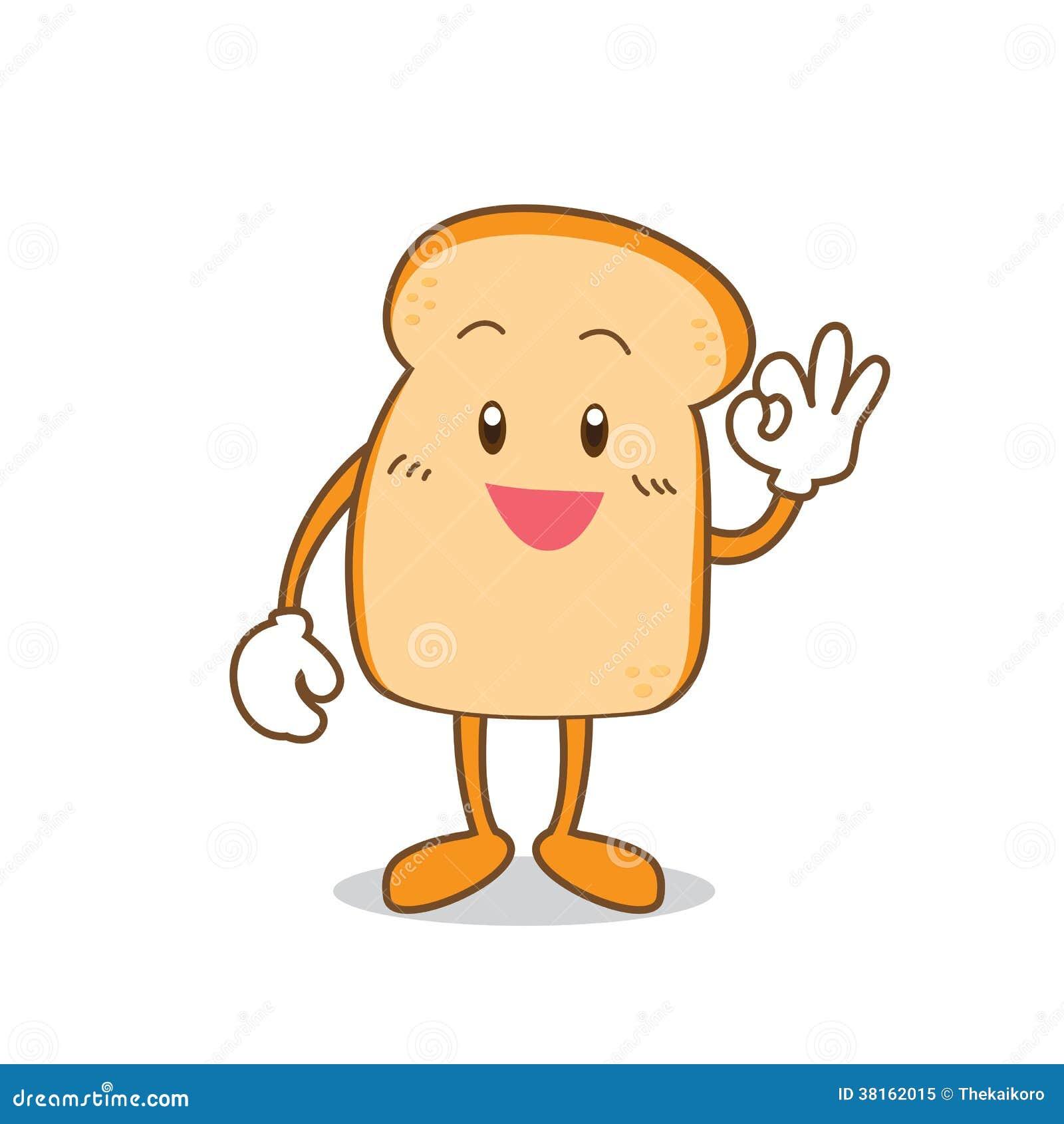 Bread Baker Cartoon Isolated slice of bread cartoon royalty free stock ...