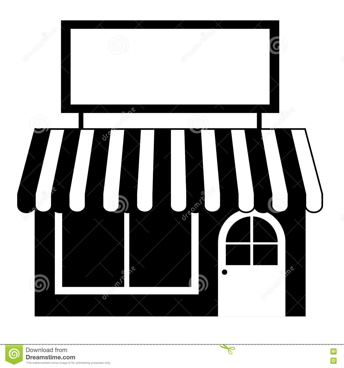 Isolated Small Store Design Stock Vector Illustration Of Local Shop 80040695