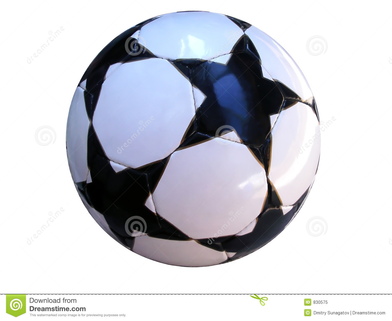 ISOLATED SOCCER BALL WITH CLIPPING PATH