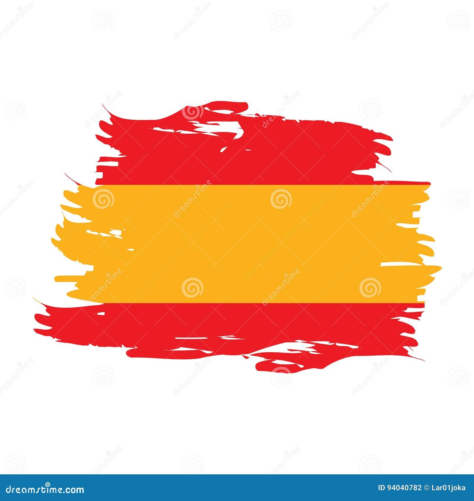 Isolated Spanish flag