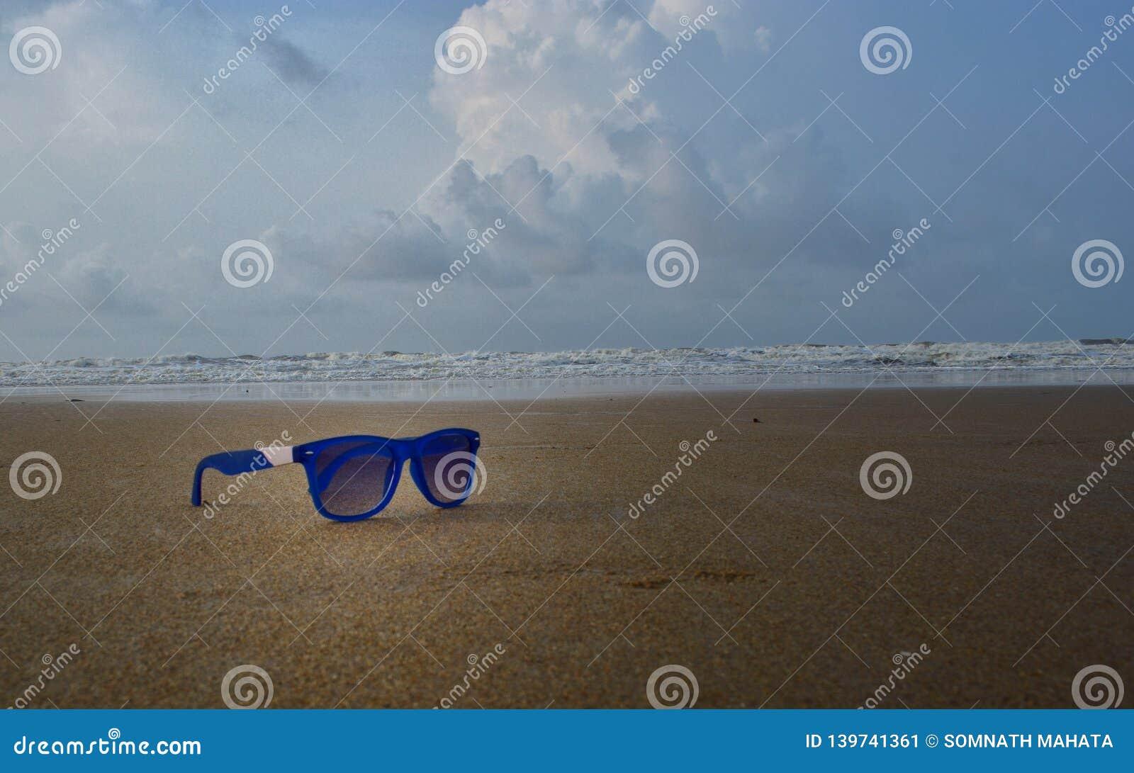 An sun-glass on sea beach