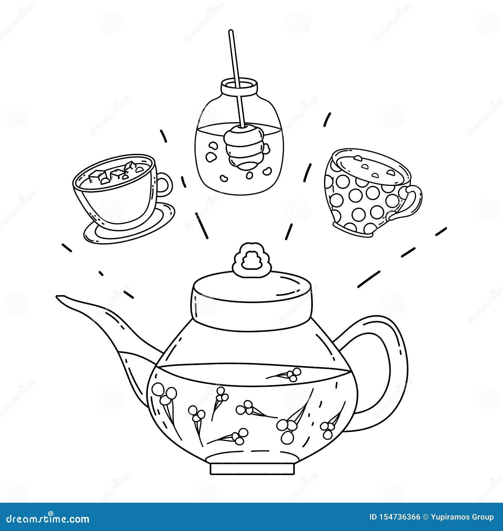 Isolated Tea Pot Design Vector Illustration Stock Vector ...