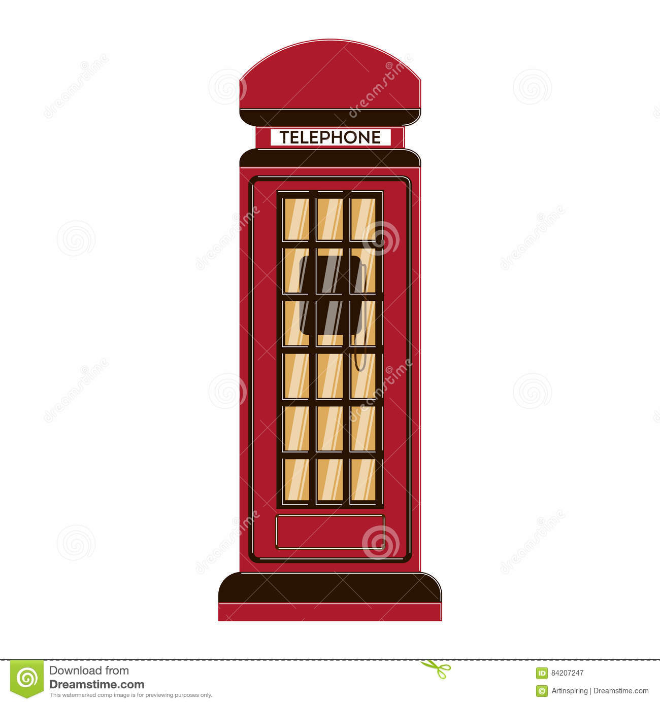 Box Culture : Isolated telephone box stock vector image
