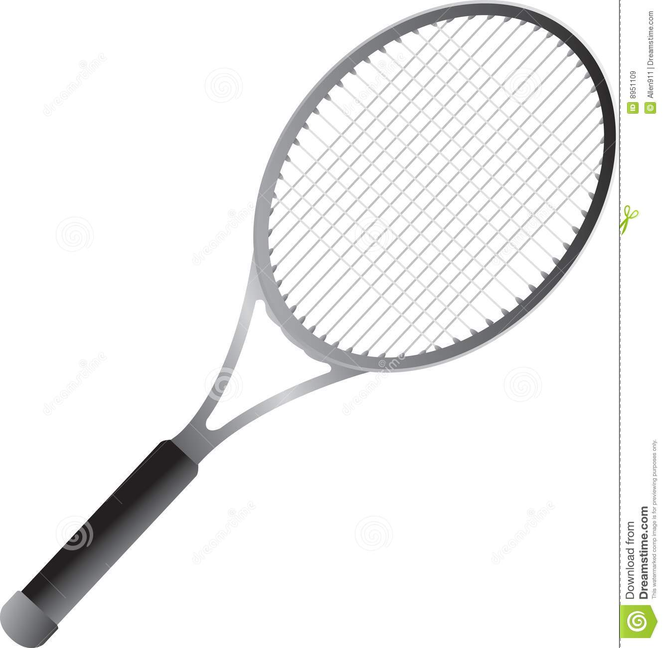Isolated tennis racket stock vector image of hobby - Dessin raquette ...