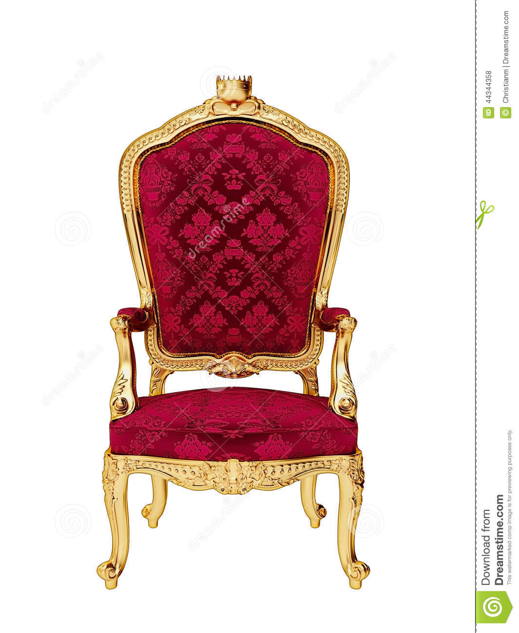 Isolated Throne Stock Illustration Image 44344358