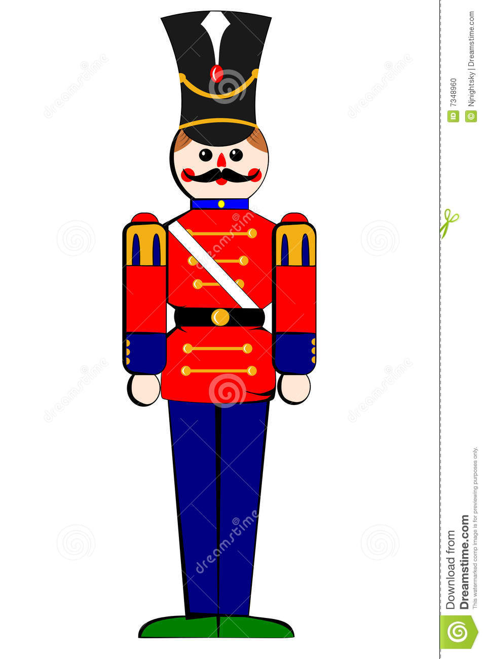 Isolated Toy Wooden Soldier Stock Photo - Image: 7348960