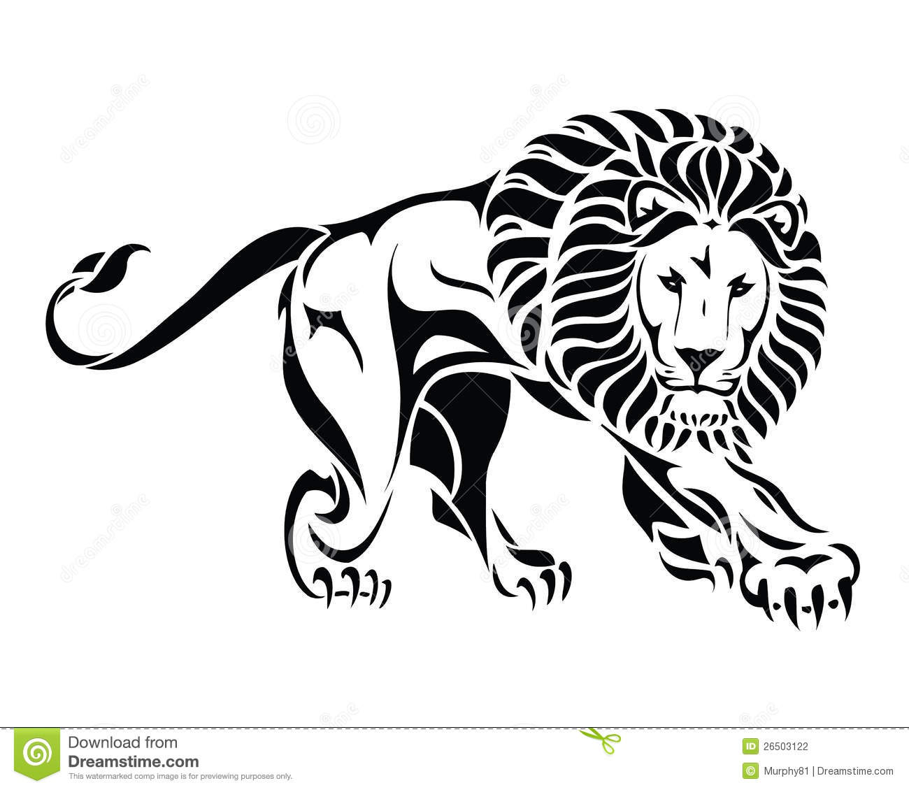 15 Magnificent Leo Tribal Tattoos: Isolated Tribal Lion Tattoo Stock Vector
