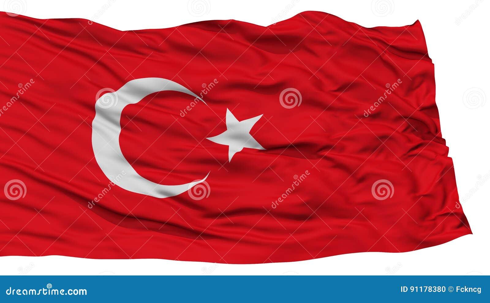 Isolated Turkey Flag