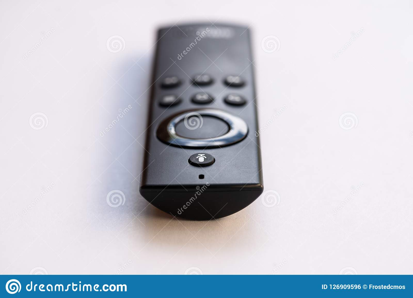Isolated TV remote control on white background