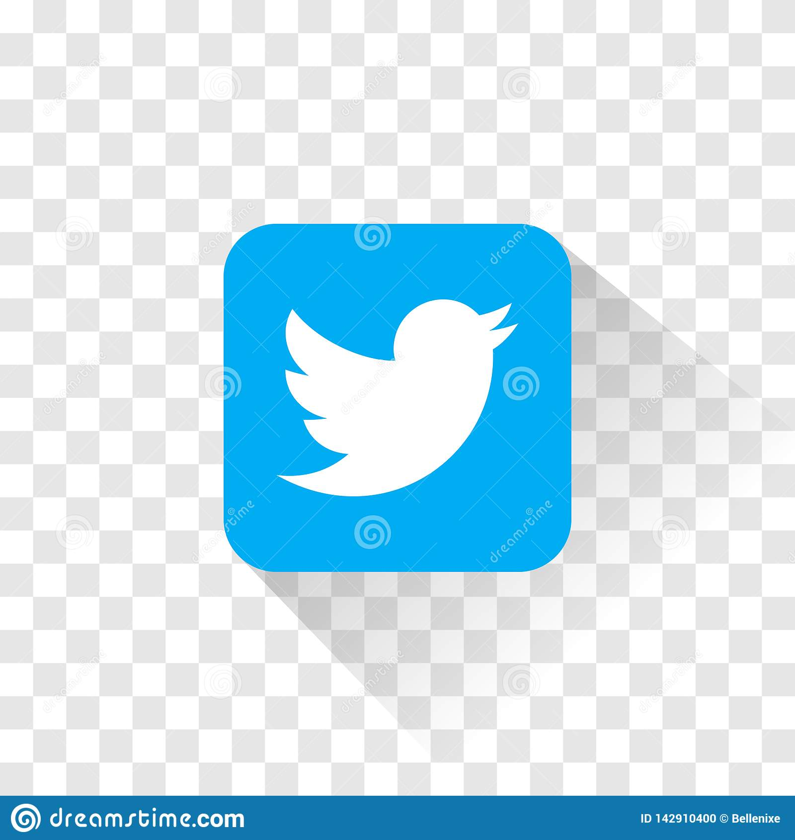 Isolated Twitter Logo Vector Illustration Twitter Icon