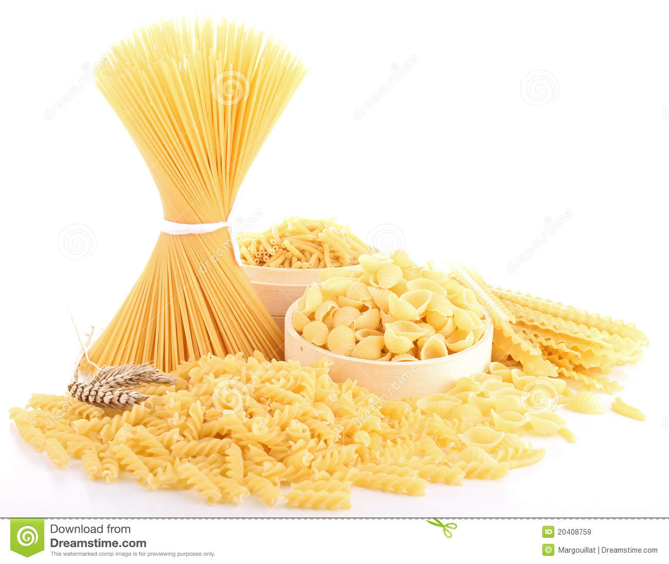 Isolated Uncooked Pasta Royalty Free Stock Images - Image: 20408759